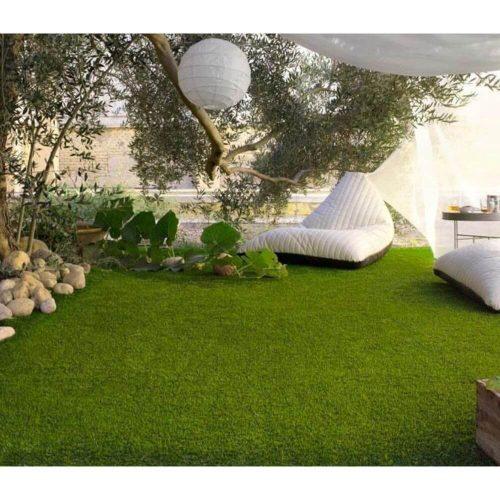 Césped-artificial-barato-Adriático-30mm-decoración-jardín