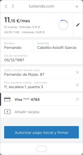 resumen del formulario con tus datos